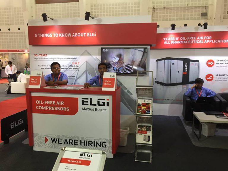 Triển lãm máy nén khí ELGI tại Ấn Độ 2017