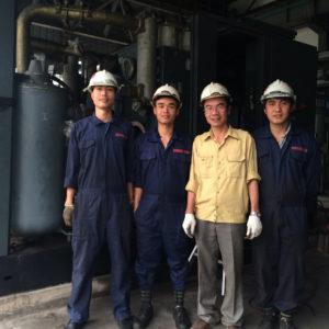 Sản xuất máy nén khí trục vít theo quy trình khép kín tại nhà máy